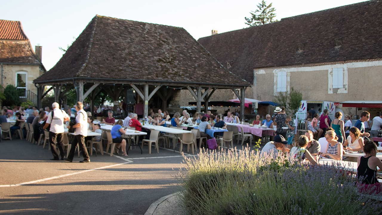 Summer Local Evening Market in Dordogne – France
