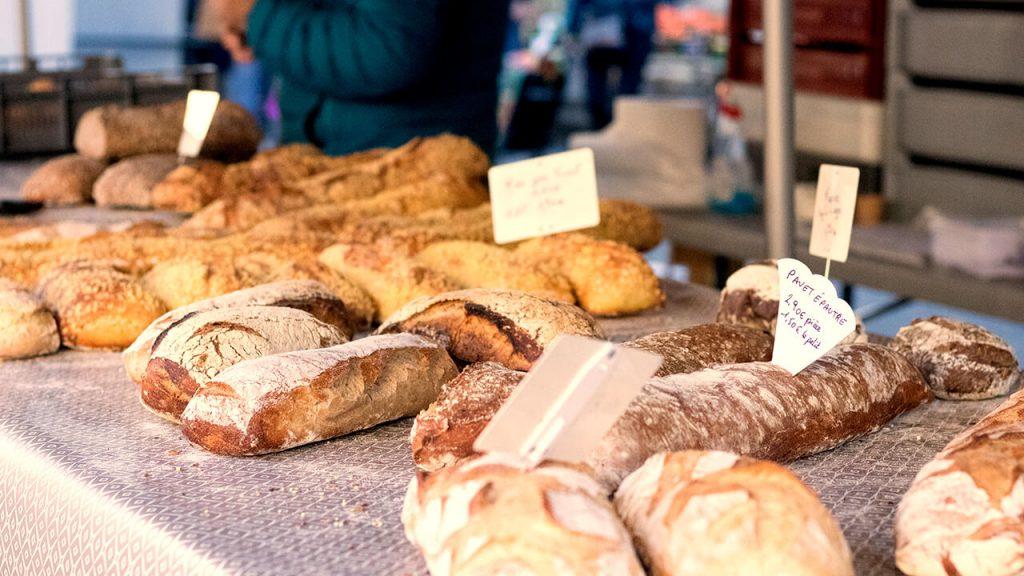 Boulangerie stall - Mirepoix Market, France